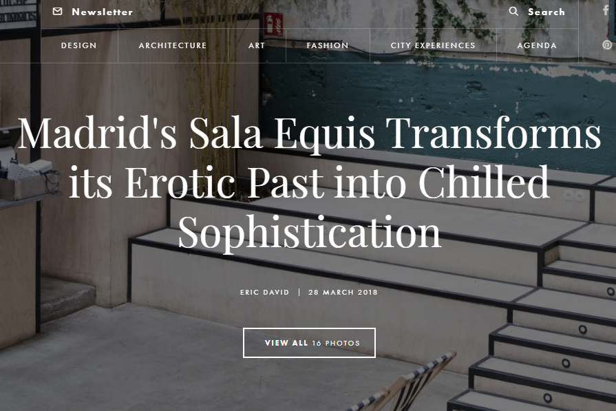 Sala Equis published by Yatzer